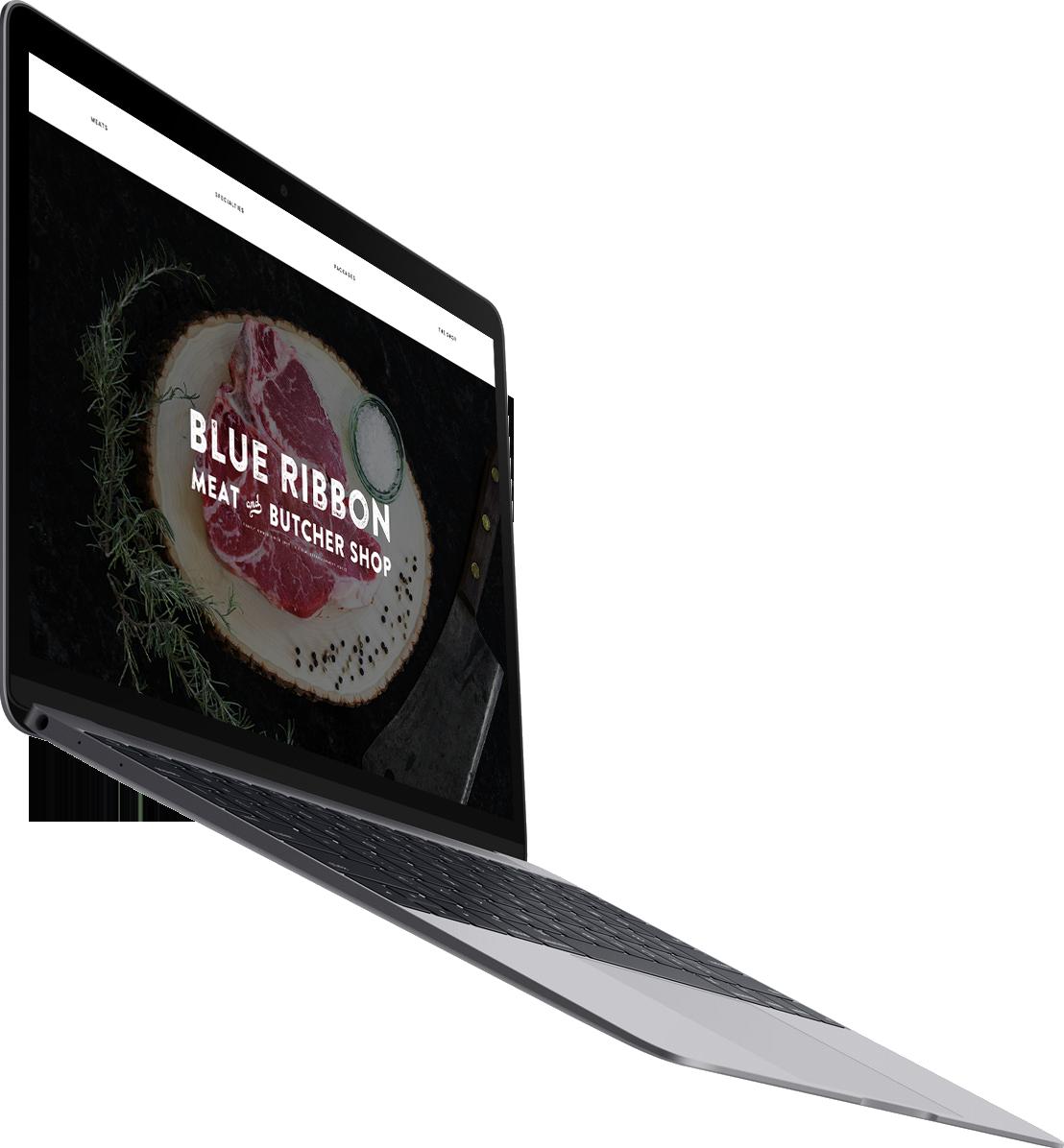 Blue Ribbon Desktop Example