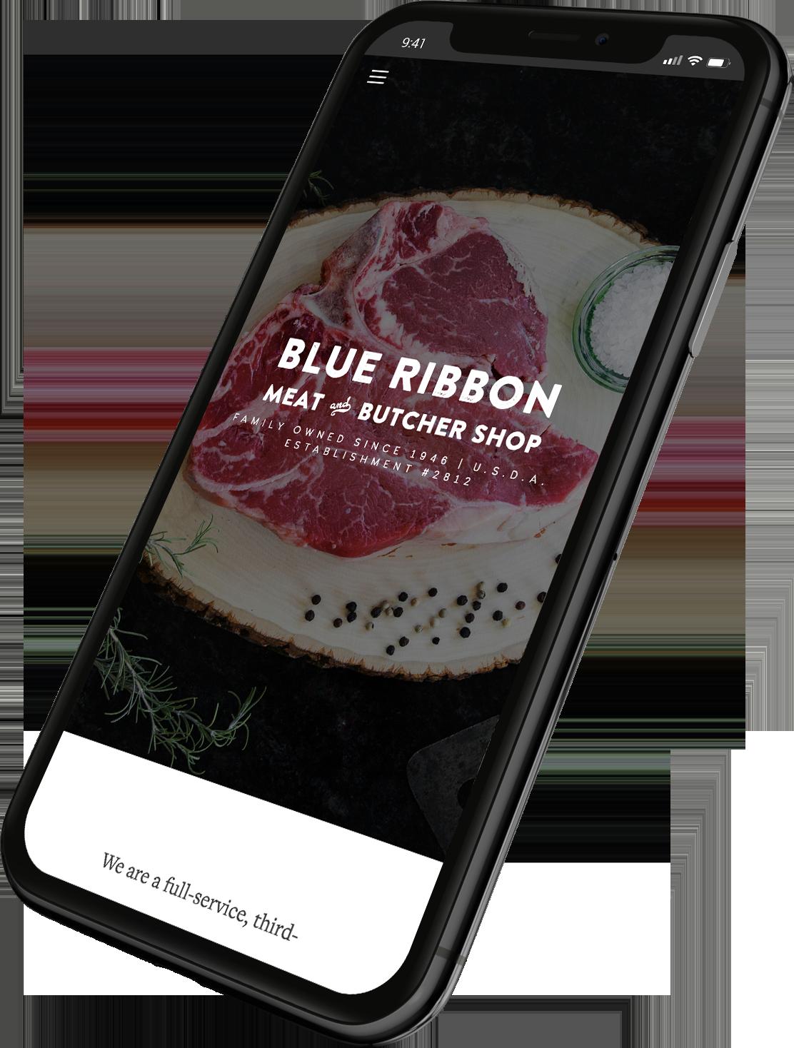 Blue Ribbon Phone Example